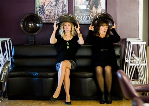 Megan Robertson and Jolene Zinke from Zinke Hair Studio in Boulder, CO.