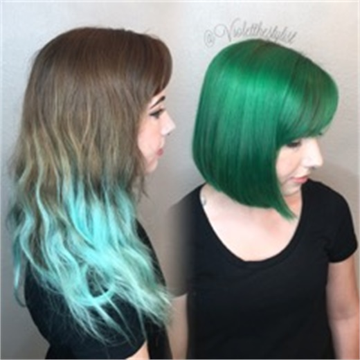 HOW-TO: Grown Out Fashion To Emerald Green - Hair Color