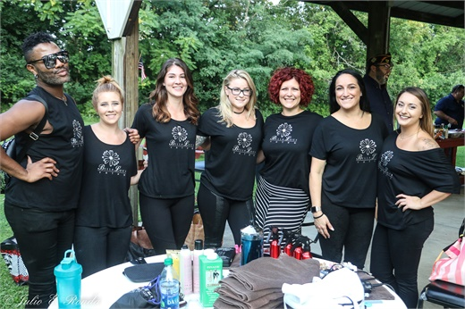 The team from Bella Luci Salon in Poughkeepsie, New York.