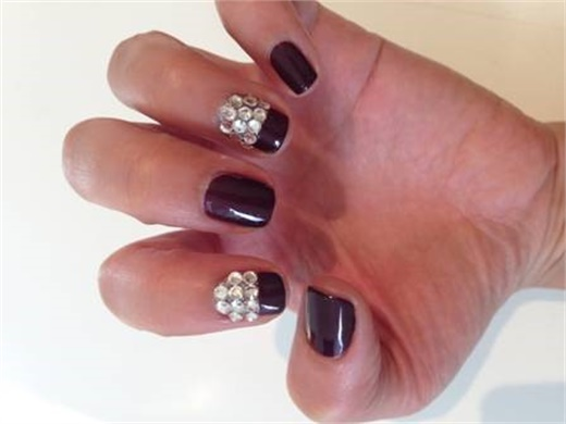 Oscar inspired nail art nails modern salon apply burgundy nail polish to every other nail prinsesfo Image collections