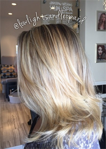 Carli Ambrose beautiful blonde finish.