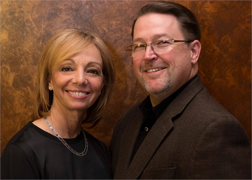 Carleen Buden and Stan Bialecki, owners of Chameleon Haircolor Cafe and Spa in North Haven, CT.