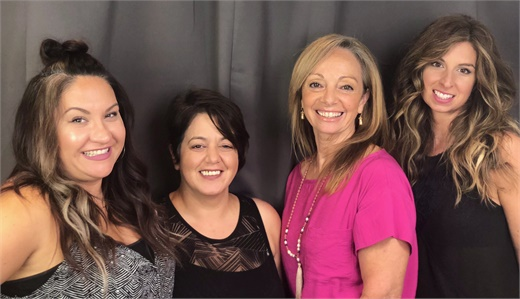 The team from Chameleon Haircolor Cafe in New Haven, Connecticut.