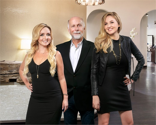 Jill Higginbotham, Jerry Plappert and Carrie Monotti, owners of J Michael's Spa and Salon in Louisville, Kentucky.