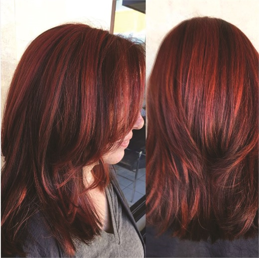 Frost gave his client a bold, new look using color by Kadus Professional.
