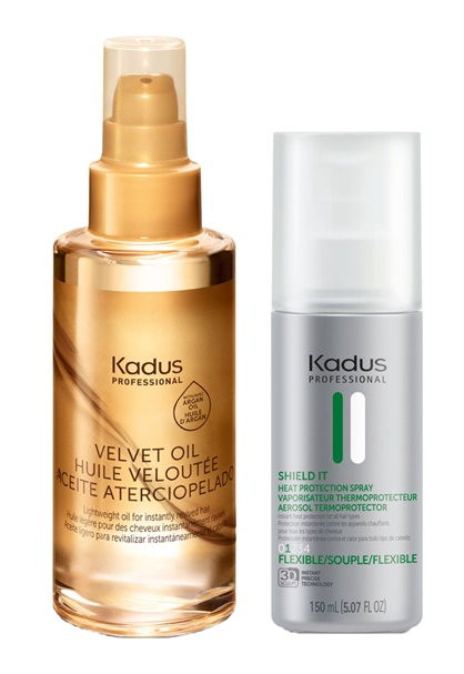 FROST'S FAVORITE PRODUCTS RIGHT NOW -Kadus Professional Portfolio products: Shield It Thermal Protection Spray, Velvet Oil, Visible Repair, Color Vibrancy, Deep Moisture Intensive Masks, Kadus Professional Blondes Unlimited Highlighting System.