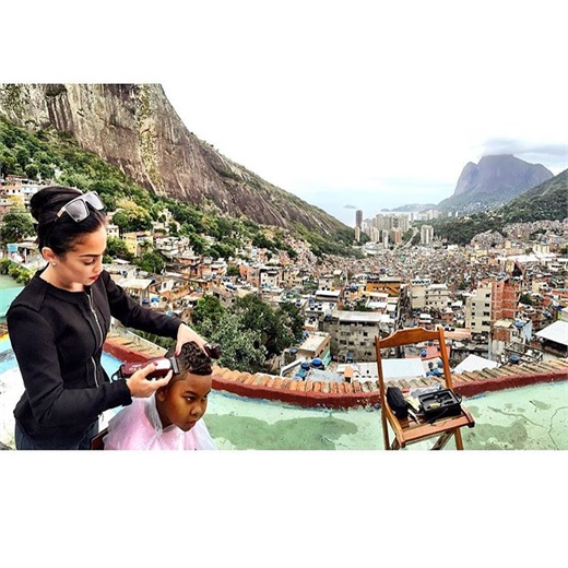 Lena Piccininni in the Favelas of Brazil.