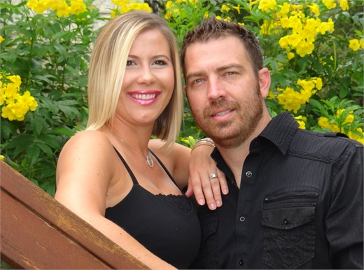 Lauren and Robby Kinsey, owners of The Fixx Hair Studio in New Braunfels, TX.