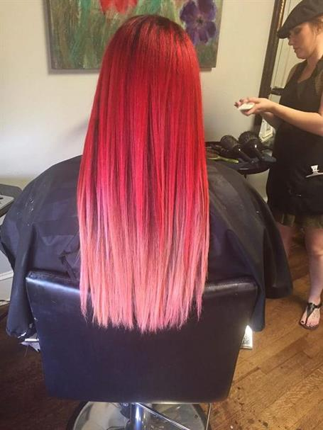 Makeover Fuzzy Fade To Sleek Raspberry Pink Melt Hair