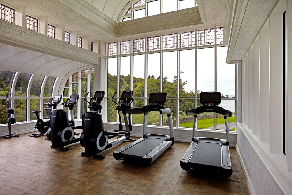 The gym atThe Spa at Ashford Castle.