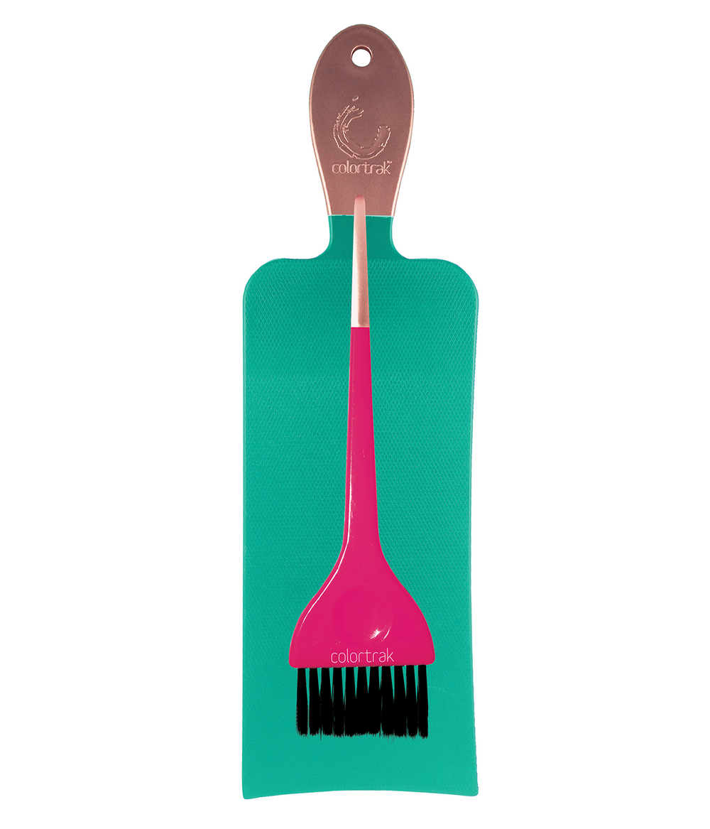 <strong>Balayage board</strong> and ultra-soft feather bristle brush