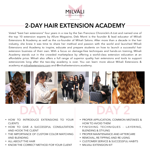 Milvali Extensions & Academy 2-Day Certification