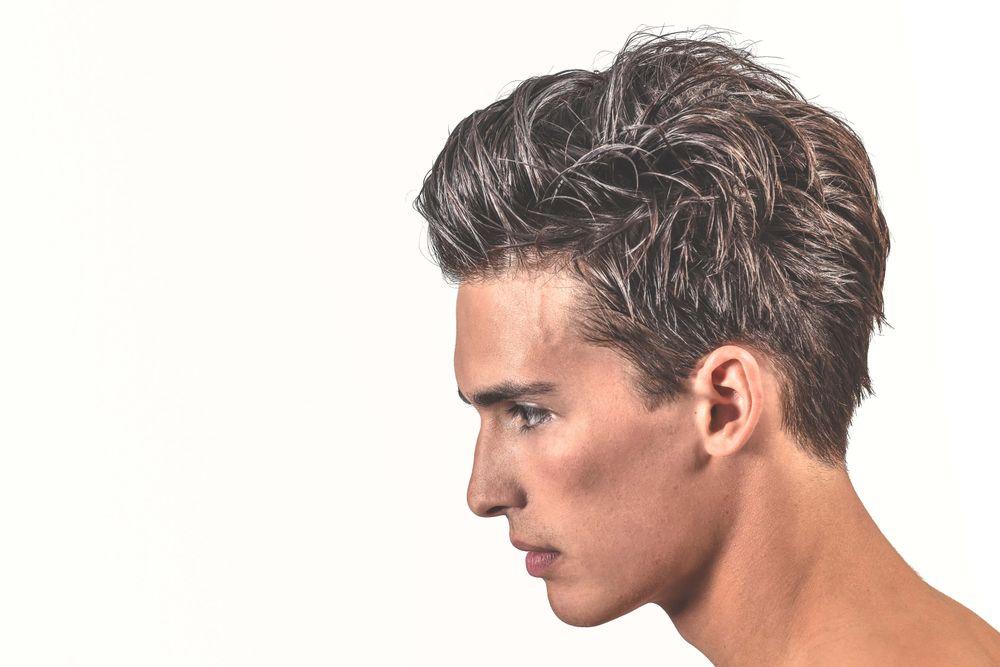 <p>Hair: Martin Hristov-----</p> <p>Product: 18.21 Man Made Clay, Paste, Hair Spray-----</p> <p>Makeup: Kaja Gybasova</p>