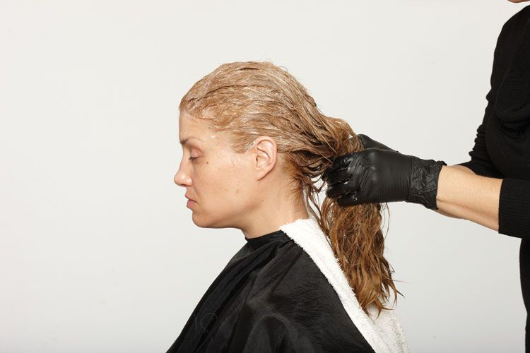 3. Massage color to saturate. Process for additional 15 minutes. Shampoo.