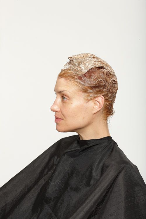 6. Process for 20 minutes then rinse. Do not shampoo, but condition the hair.