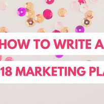 How to Write your 2018 Salon Marketing Plan
