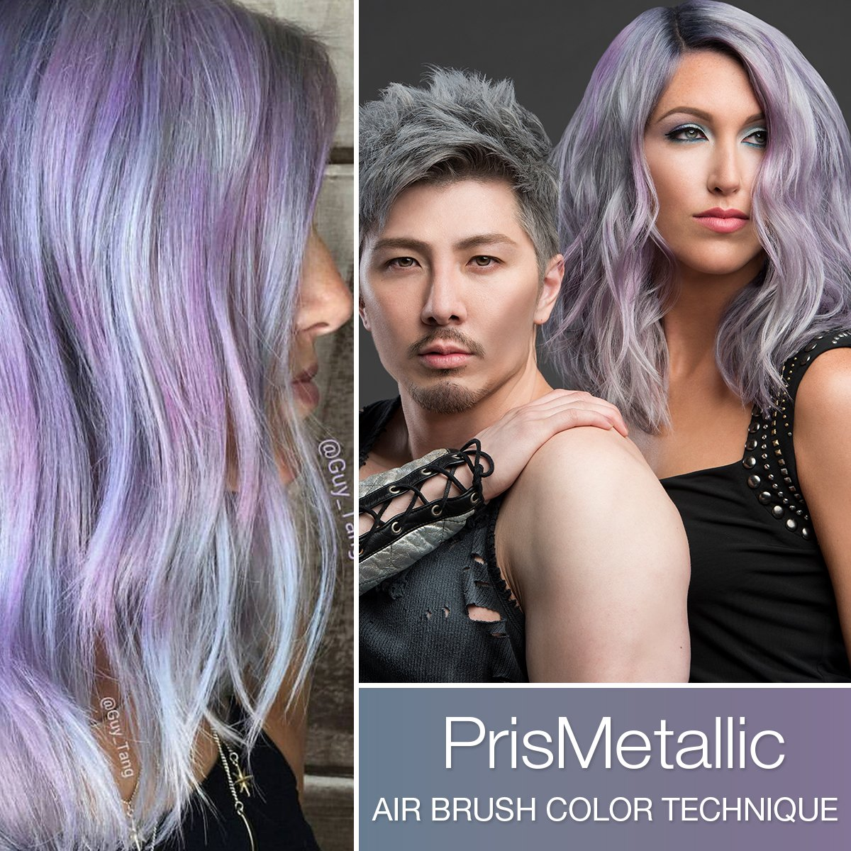 PrisMetallic Airbrushing Haircolor Technique by Guy Tang