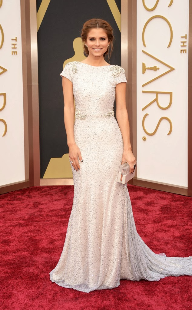 HOW TO: Maria Menounos' Chic Chevron Manicure at The Oscars
