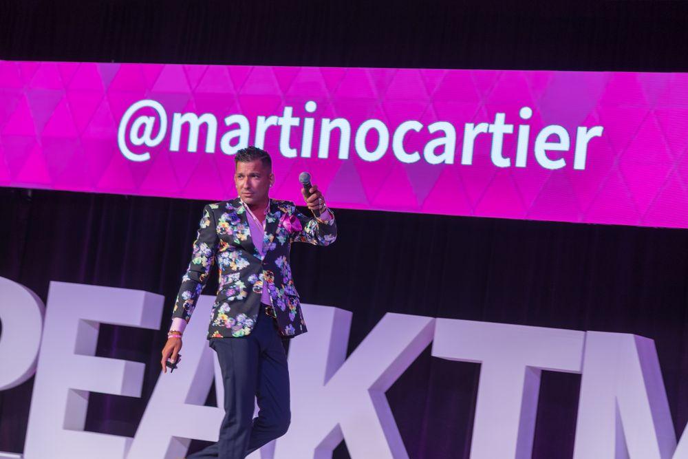 Emcee Martino Cartier at TME.