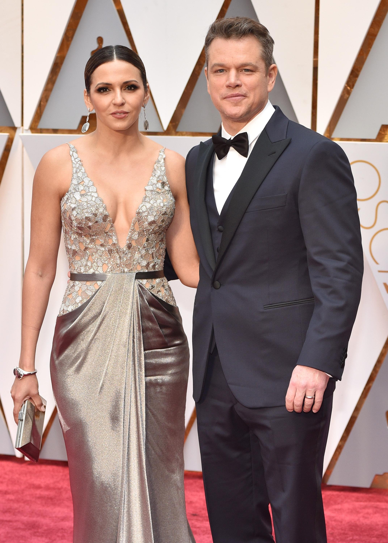 Double How-to! Matt Damon and Luciana Barroso's Oscars 'do's