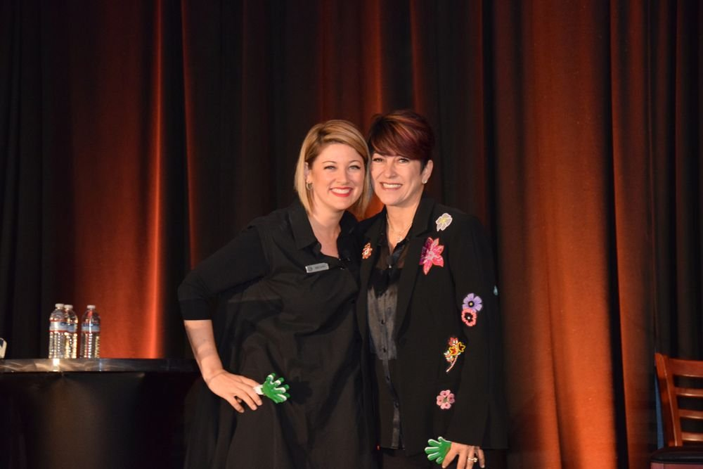 <p>Gadabout&#39;s Megan Jasper and Jana Westerbeke took the audience through their 4 Dimensions of Client Retention.</p>