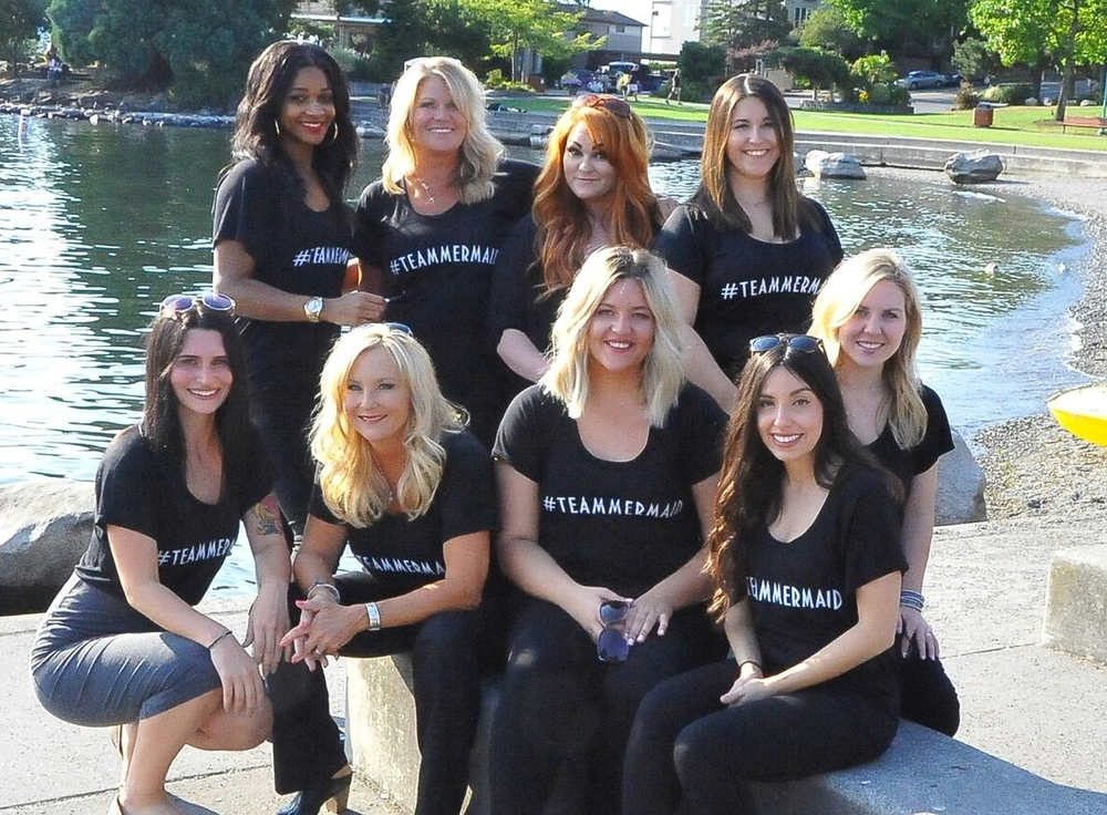 The team from Mermaid Hair Extensions, in Kirkland, VA.