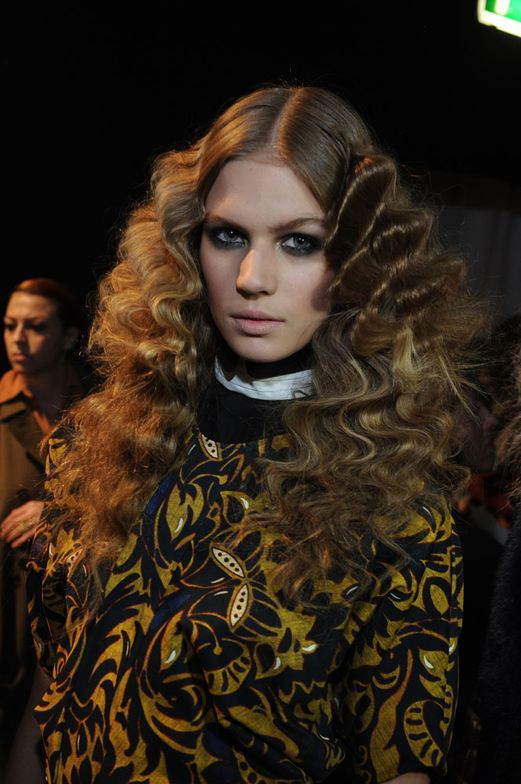 Finished looks from the Just Cavalli show at 2013  Autumnl/Winter Milan Fashion Week