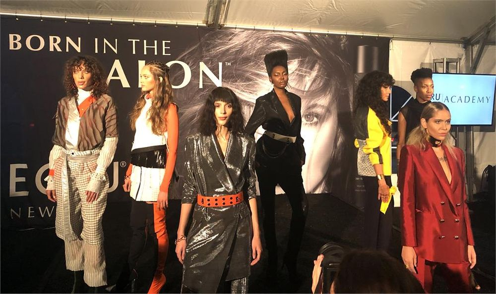 Models presented <strong>at the grand opening of the Ecru New York Academy.</strong>