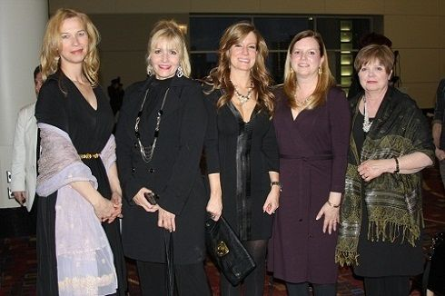 MODERN SALON Media's Anne Moratto, Maggie Mulhern, Katharine Cook, Stacey Soble and Jan Hillenmeyer at the CC100 Beauty BASH.