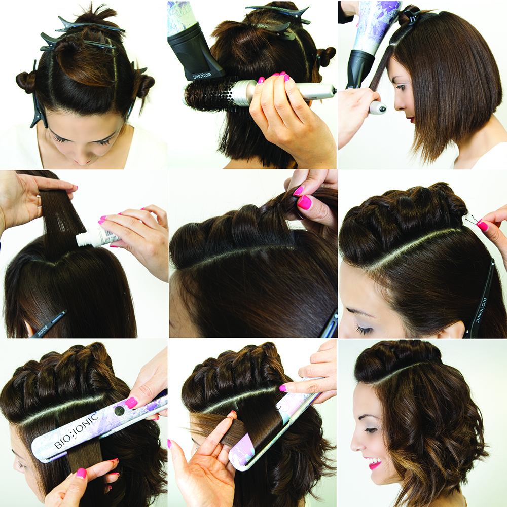 9 Step Mohawk Braid for Short-Medium Haired Clients - Get the Look!