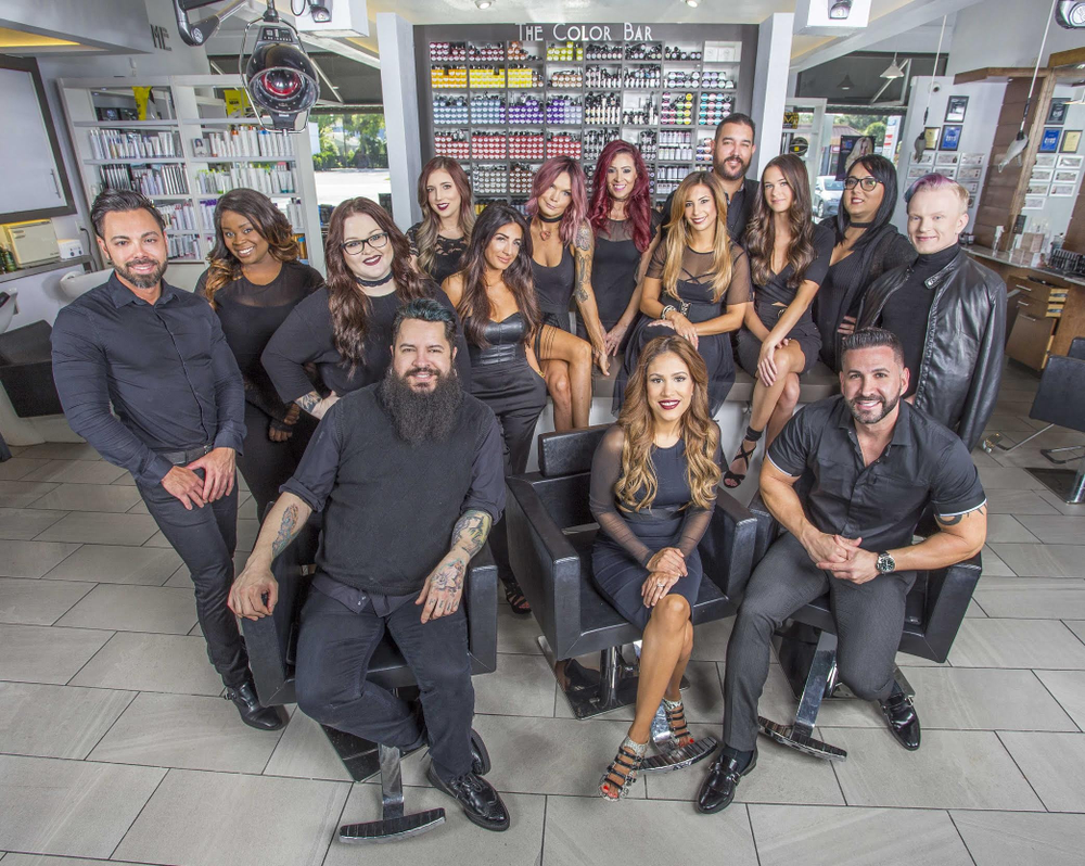 The team from Monaco Salon in Tampa, FL.