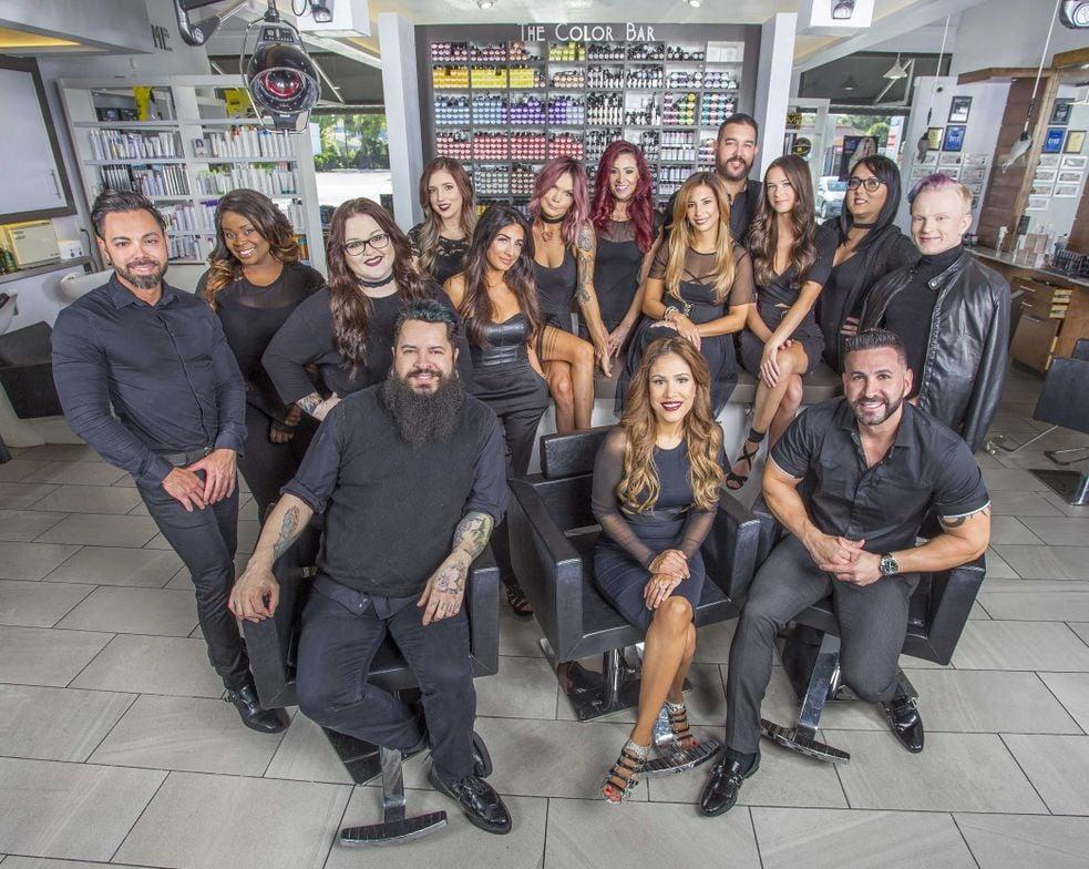 The team from Monaco Salon in Tampa, FL.