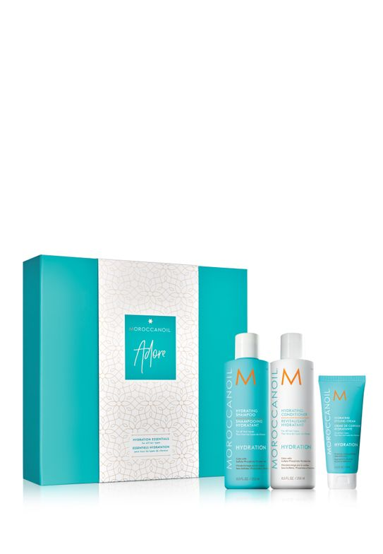<p>The Moroccanoil Adore Kit including Moroccanoil Hydrating Shampoo, Moroccanoil Hydrating Conditioner, and Moroccanoil Hydrating</p>