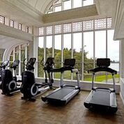 The gym at The Spa at Ashford Castle.