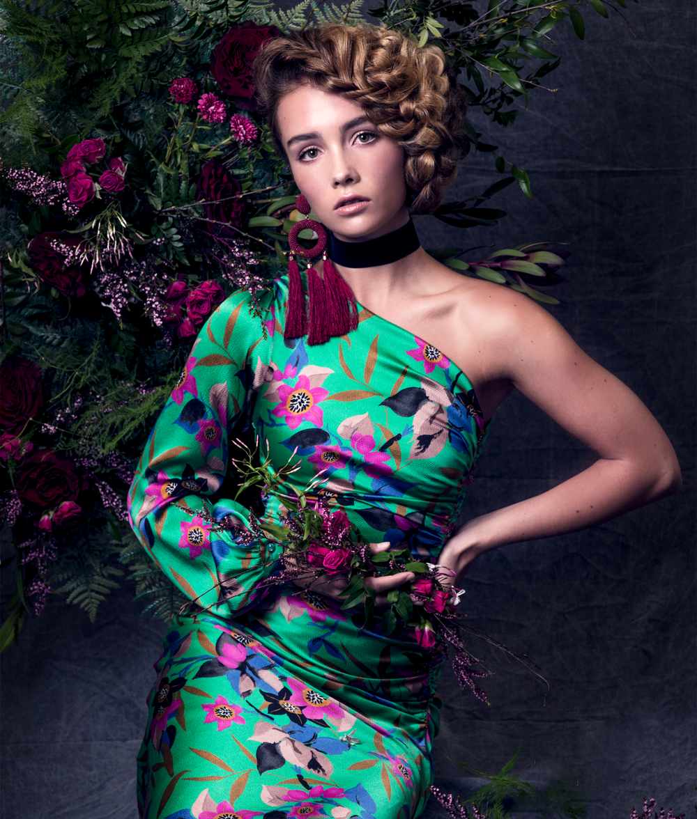<strong>Photographer:</strong> Ijfke Ridgley<br /><strong>Hair:</strong>SteveElias@ Coutier Remix for Olivia Garden<br /><strong>Makeup:</strong> Kecia Littman for Cozzette Cosmetics<br /><strong>Fashion Styling:</strong> Kim Smith<br /><strong>Set Designer:</strong> Maria Roedel@ Ally Roe Floral Styling &amp; Design