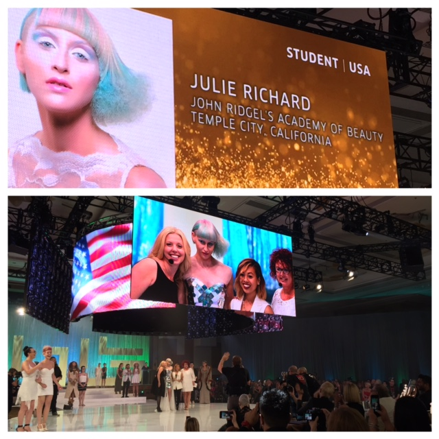 Jullie Richard wins GOLD in the Student Category at Wella's NATVA.