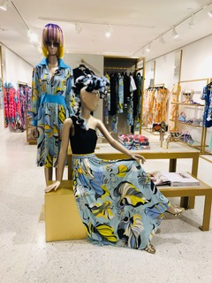 Nicholas French hair design enhancing these mannequins for the Resort 2019 Collection in the Miami Boutique of <strong>Emilio Pucci.</strong>