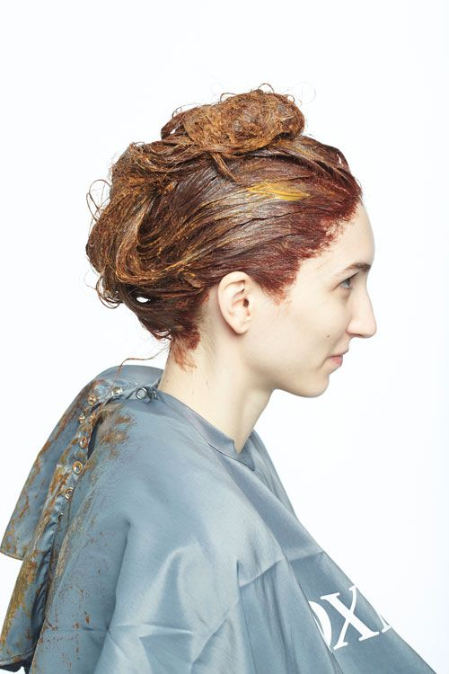 3. Using the Nioxin Adaptive Principles of Color, gloss the hair with Sebastian Professional Gold Red Cellophanes.