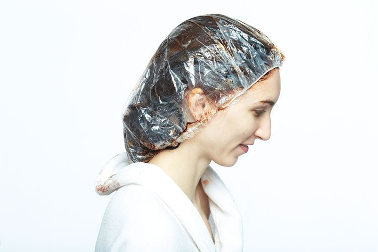 4. Cover with a plastic cap and process under heat for 30 minutes. Shampoo and condition with Nioxin System 5.