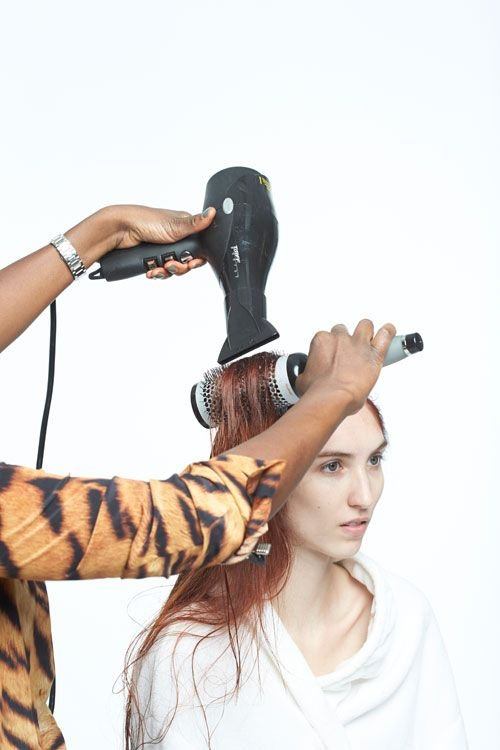 6. Blow dry smooth.