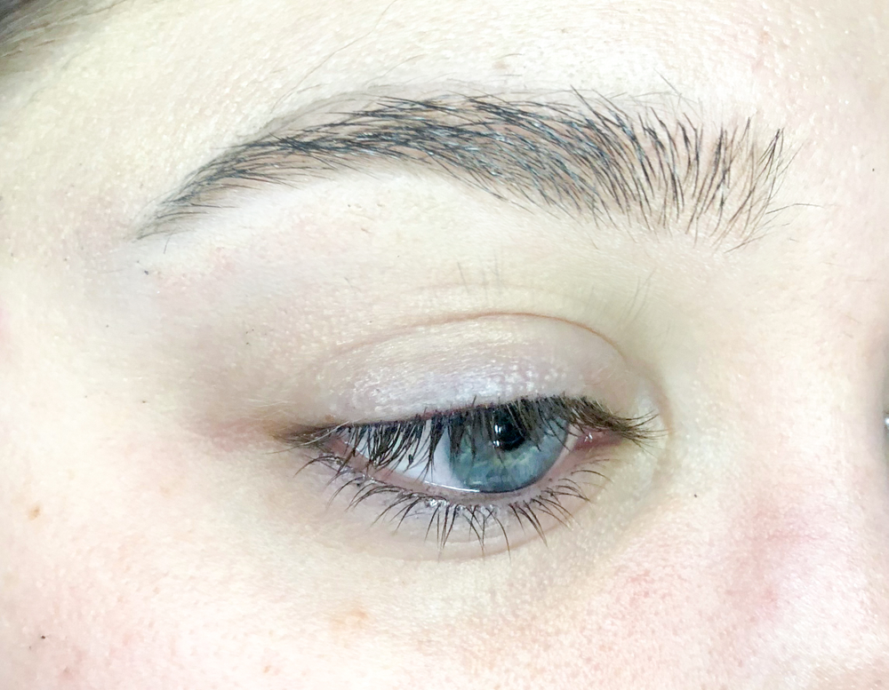 <p><strong>Before. It helps to have strong natural lashes to support the look.</strong></p>