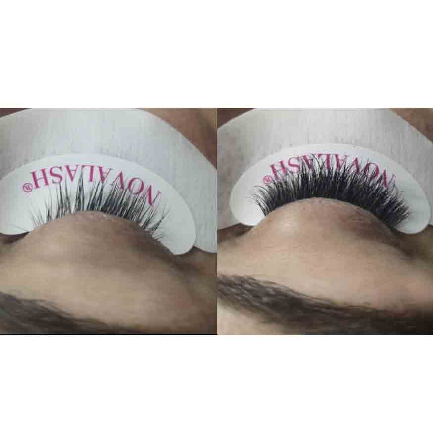 <p><strong>Before and after. These lush lashes are ready for romance</strong>!</p>