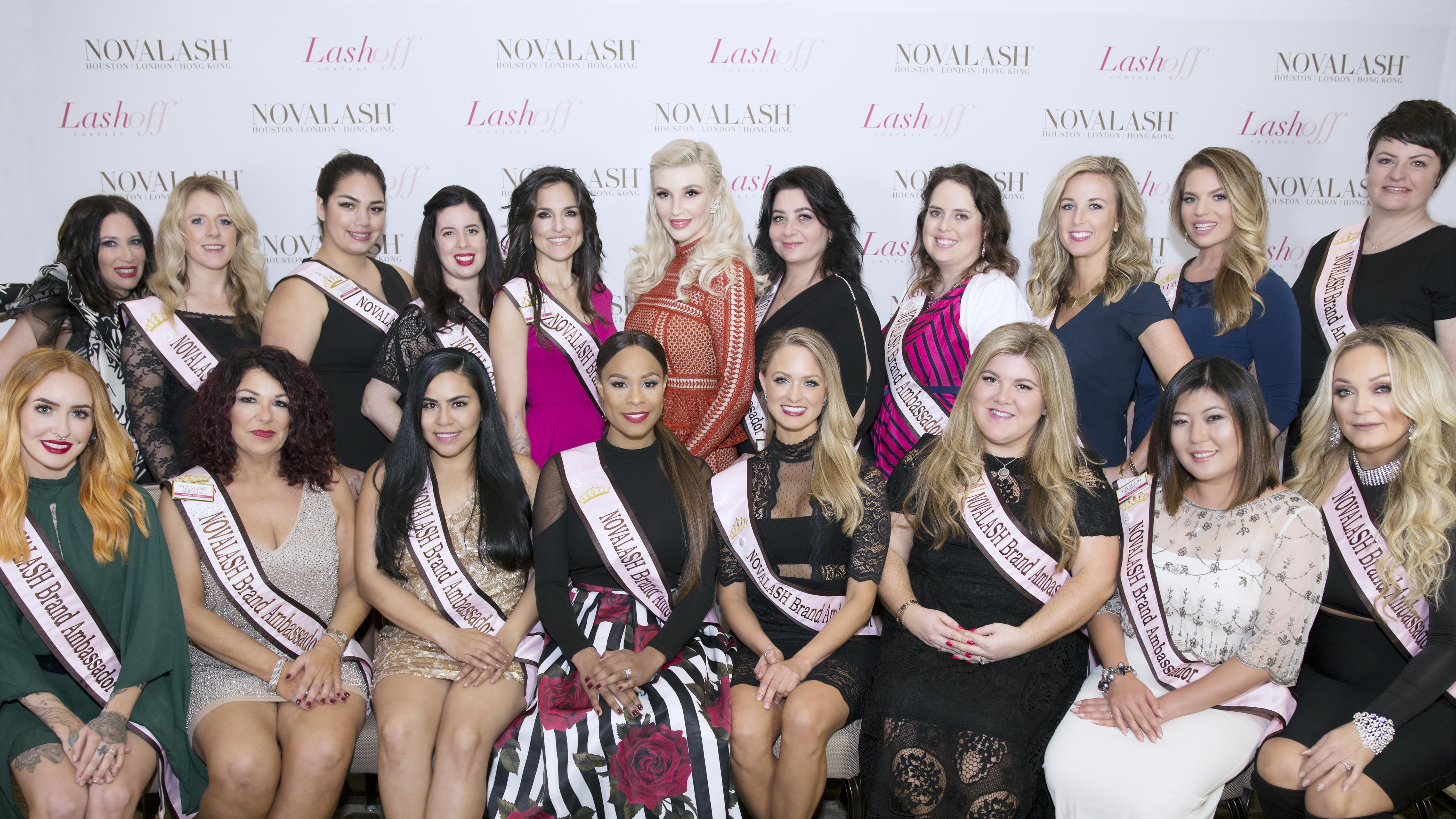 NovaLash's 2017 class of Brand Ambassadors.