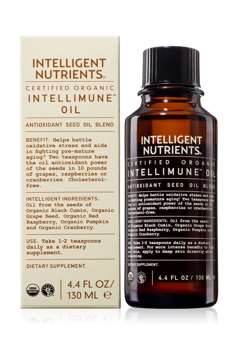 <p>Intelligent Nutrients creator Horst Rechelbacher always believed in the importance of beauty from the inside out. Intellimune Oil and Powder offer a certified organic source of nutrition with antioxidant properties that promote supple skin and silky hair. According to McCauley, this nutritional supplement offers his salon a unique point of difference in the retail assortment.</p>