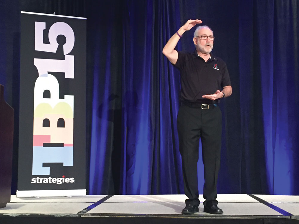 Strategies Owner Neil Ducoff speaks at Strategies' Team-Based Pay Conference 2015.
