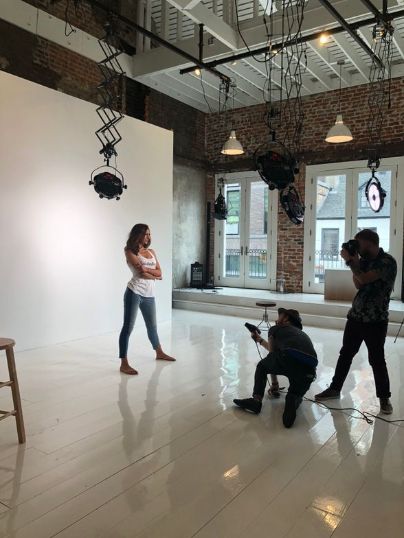 Specialty lighting equipment built into Studio 633 makes it easy for photographers to bring their camera and use the space.