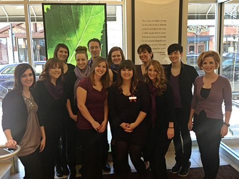 The staff of Neroli on CUT IT OUT day.