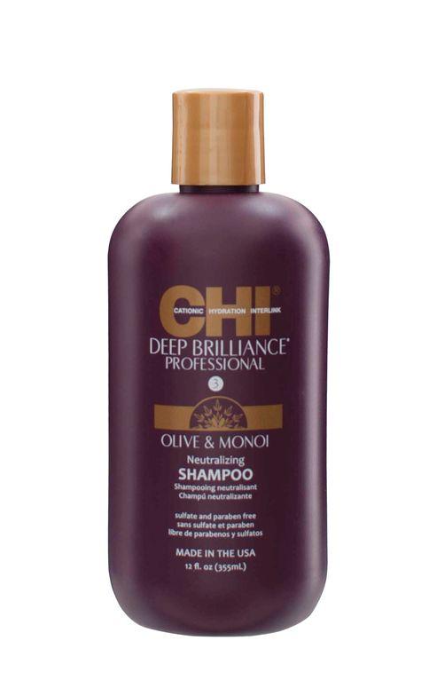 <strong>CHI Deep Brilliance Olive &amp; Monoi Neutralizing Shampoo</strong>