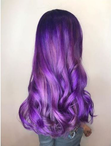 @erikadawnshear took what had been red violet hair to this royal purple.