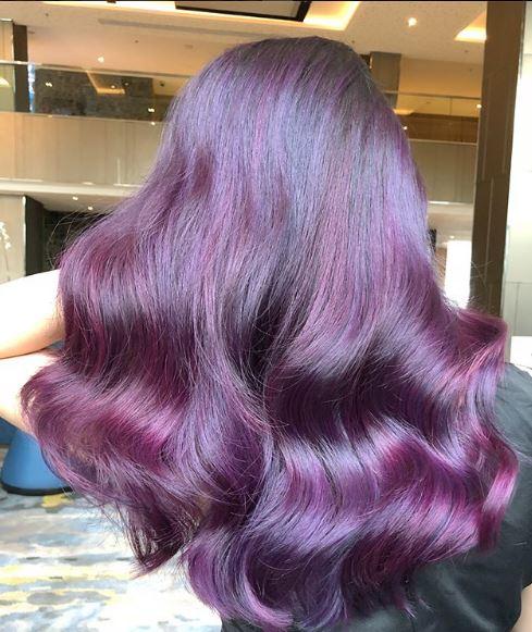 @widi_yanti and @arie_arieharry used L'Oreal Professionnel's Magenta and Electric Purple.